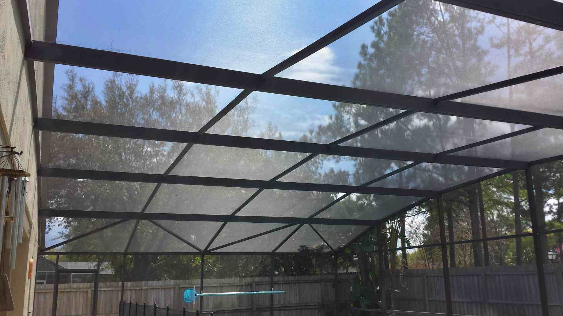 Forestedge Cir, Orlando.  Re-Screen Pool Enclosure Roof